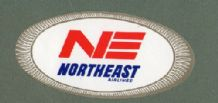 Airline luggage label  Northeast  Airline l label #121
